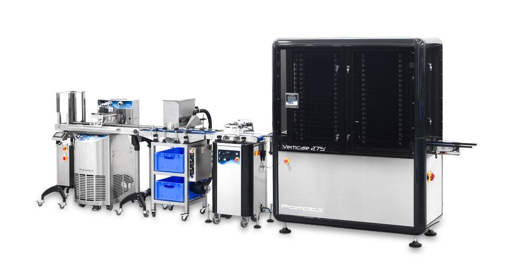 pomati linee di prodotti standard T Tline Granellatore vibrante verticale
